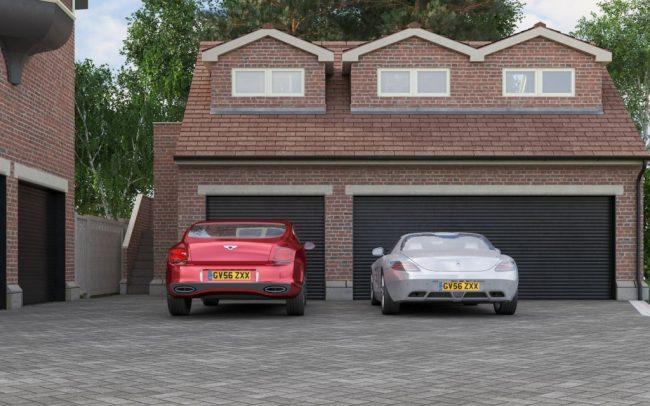 Domestic Triple Garage